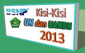 kisi-kisi uambn 2013